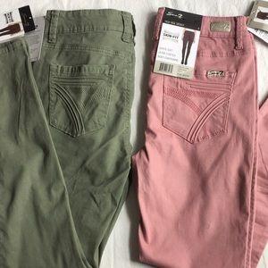 NEW Seven7 High Rise Skinny BLUSH Pants 4
